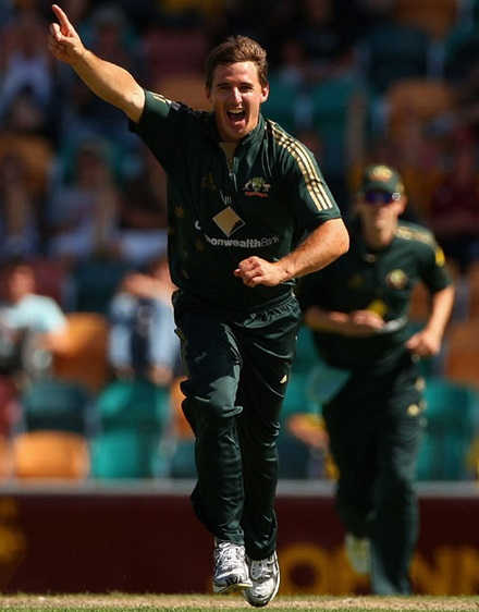 Brad Hogg celebrate after taking 3 wickets
