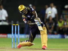 Andre Russell fifty vs KXIP in IPL8