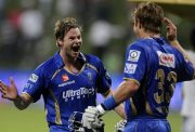 Shane Watson with Steve Smith RR