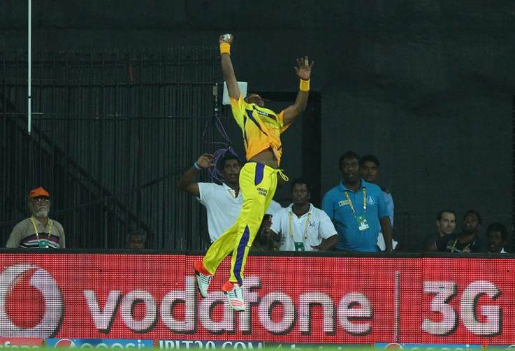 Dwayne-Bravo-Catch-csk - CricTracker