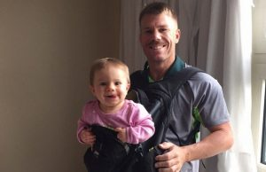 Cricketers and their little ones