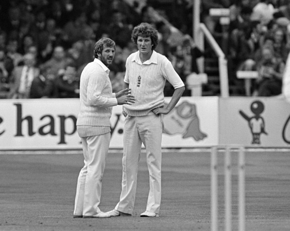 Ian Botham and Bob Willis
