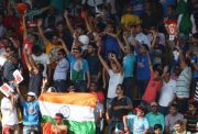 Indian Fans Cheer for Team India in India v South Africa 2nd ODI Indore