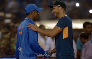 MS Dhoni and Fuf du Plessis