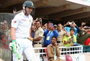 AB de Villiers walks out to bat in his 100th Test