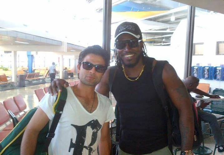 Chris Gayle and Ahmed Shehzad