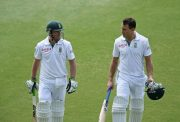 AB de Villiers and Faf du Plessis of South Africa