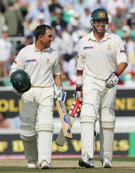 Image result for justin langer and matthew hayden batting