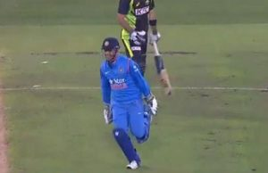 MS Dhoni celebration