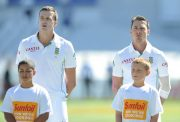 South African cricketers Morne Morkel (L) and Dale Steyn of South African team pose ahead of day 1 of the third Test match between South Africa and Australia at Newlands in Cape Town on March 1, 2014. AFP PHOTO / Peter Heeger (Photo credit should read Peter Heeger/AFP/Getty Images)