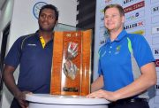 Steven Smith Australia and Angelo Mathews Sri Lanka
