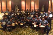 Team India Drum Circle (Phot Source: Twitter)