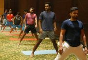 Team India Yoga session (Photo Source: Twitter)
