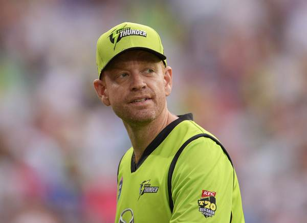 SYDNEY, AUSTRALIA - DECEMBER 27: Andrew McDonald of the Thunder looks on during the Big Bash League match between the Sydney Thunder and the Sydney Sixers at ANZ Stadium on December 27, 2014 in Sydney, Australia. (Photo by Brett Hemmings - CA/Cricket Australia/Getty Images)