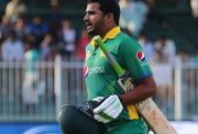 Pakistan's Azhar Ali walks out of the pitch after he was dismissed during the third One Day International (ODI) match between Pakistan and England at The Sharjah Cricket Stadium in the Gulf Emirate of Sharjah on November 17, 2015. AFP PHOTO / MARWAN NAAMANI (Photo credit should read MARWAN NAAMANI/AFP/Getty Images)
