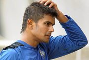 Indian cricketer S. Badrinath gestures as he attends a camp at the National Cricket Academy (NCA) in Bangalore on July 14, 2009. The NCA organised a five-day preparatory camp organised for emerging players ahead of their tour of Australia