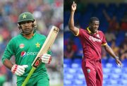 Sarfaraz Ahmed and arlos Brathwaite