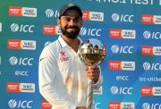 Virat Kohli with Test Mace