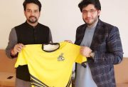 Anurag Thakur and Javed Afridi