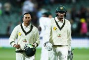 Usman Khawaja and Matt Renshaw of Australia