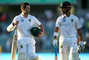 Dean Elgar and Jean-Paul Duminy of South Africa