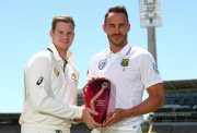 teve Smith of Australia and Faf du Plessis of South Africa