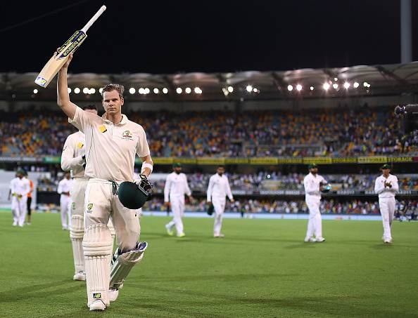 Steve Smith of Australia walks from the ground at stumps