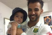 JP Duminy with his toddler (Photo Source: Twitter)