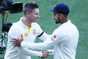 Michael Clarke of Australia and Virat Kohli
