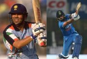 Sachin Tendulkar and Virat Kohli in their 175th ODI