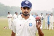 Shahbaz Nadeem walks off the field after picking 7 wickets against Jharkhand