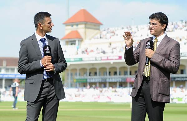 Sourav Ganguly and Rahul Dravid