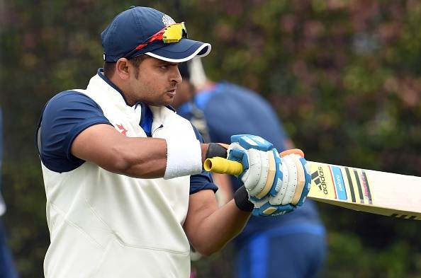 Suresh Raina. (Photo by WILLIAM WEST/AFP/Getty Images)