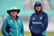 Alastair Cook (R) and Head Coach Trevor Bayliss