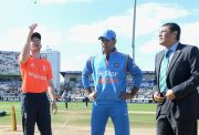 Eoin Morgan & MS Dhoni India captain