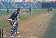 MS Dhoni bowls to Manish Pandey in the nets
