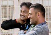 MSK Prasad and MS Dhoni