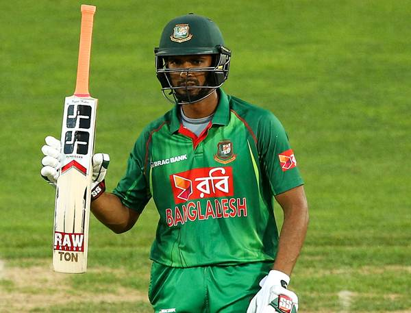 NAPIER, NEW ZEALAND - JANUARY 03: Mahmudullah of Bangladesh celebrates his half century during the first Twenty20 match between New Zealand and Bangladesh at McLean Park on January 3, 2017 in Napier, New Zealand. (Photo by Hagen Hopkins/Getty Images)
