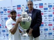 Parthiv Patel with Ranji Trophy 2016-17 cup Gujarat
