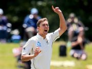 Trent Boult of New Zealand
