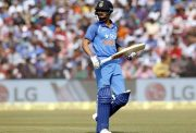 Indian skipper Virat Kohli was dismissed by Chris Woakes
