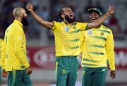 Imran Tahir of South Africa