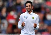 South Africa's Keshav Maharaj