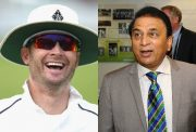 Michael Clarke and Sunil Gavaskar