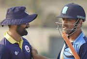 Parveez Rasool and MS Dhoni