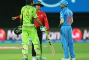 Sohail Khan of Pakistan and Virat Kohli of India