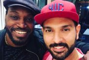 Chris Gayle and Yuvraj Singh