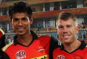 David Warner and Mustafizur Rahman