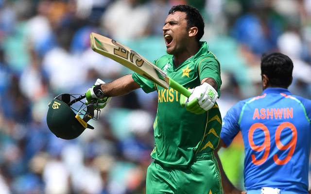 Fakhar Zaman of Pakistan celebrates