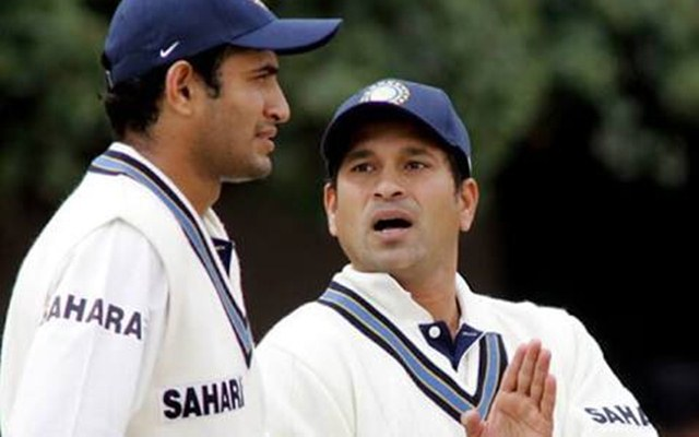 Irfan Pathan and Sachin Tendulkar